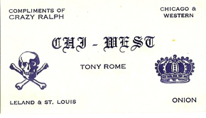 Chi-West Tony Rome card