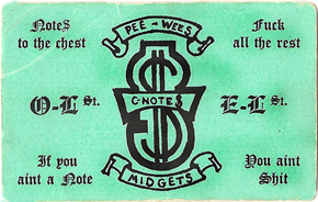 CNotes card from their original hood