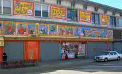 Coney Island freak show building