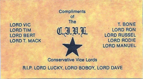 Conservative Vice Lords Club Card
