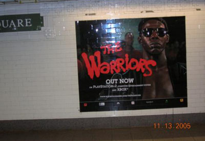 Cyrus on display in Union Square subway station