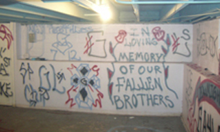 Basement tag: In Memory of our fallen brothers