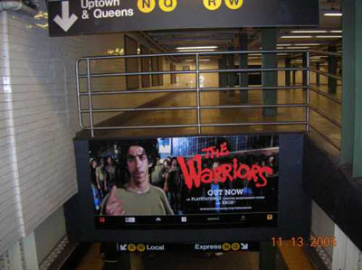 The Orphans on display in Union Square subway station