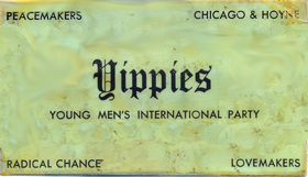 Yippies card - Make Love Not War
