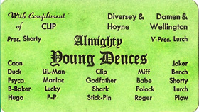 Young Deuces early 1970's card
